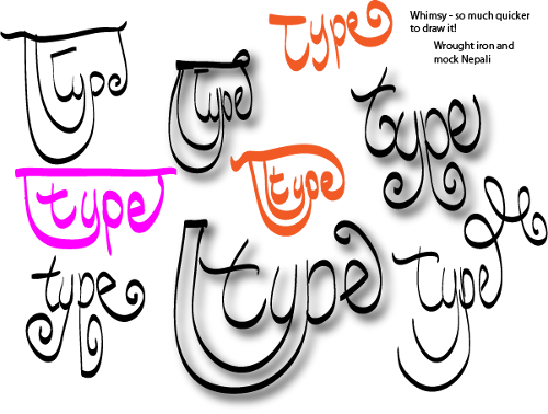 doodles - type