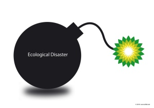 BP hand grenade - ecological disaster